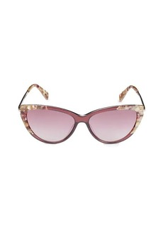 Longchamp 56MM Cat Eye Sunglasses