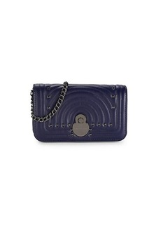 Longchamp Calvacade Quilted Leather Wallet-On-Chain