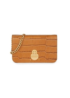 Longchamp Cavalcade Croc-Embossed Leather Wallet-On-Chain