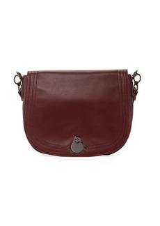 Longchamp Cavalcade Large Leather Shoulder Saddle Bag