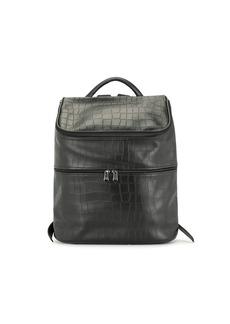 Longchamp crocodile-effect leather backpack