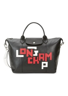 Longchamp Cuir Logo Leather Tote