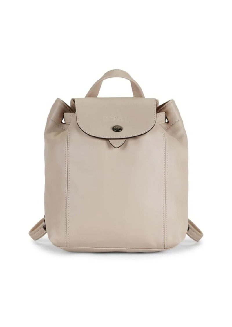 Longchamp Drawstring Leather Backpack