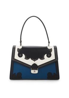 Longchamp Effrontee Colorblock Leather Top Handle Bag