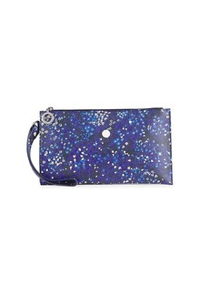Longchamp Floral Leather Wristlet