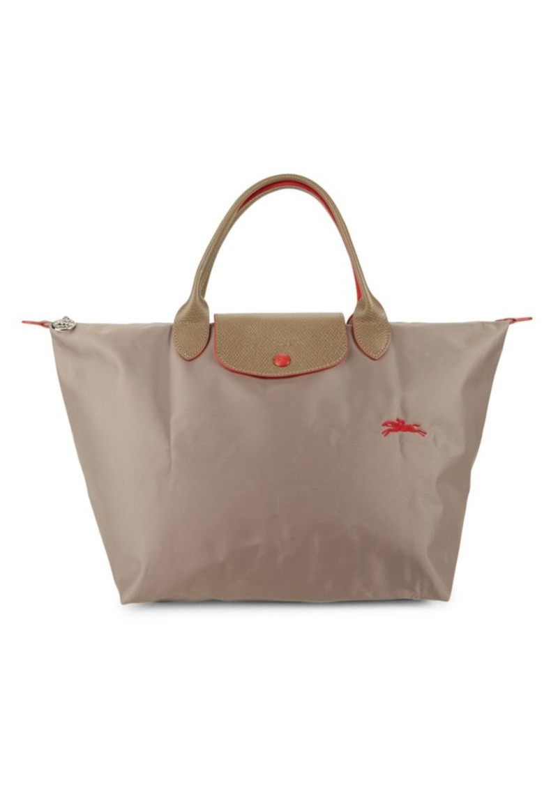 Longchamp Foldable Nylon Zip Tote