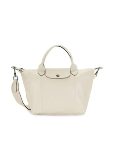 Longchamp Foldover Leather Tote
