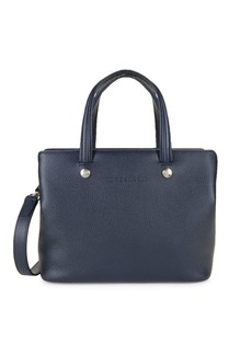 Longchamp Grained Leather Convertible Shoulder Bag