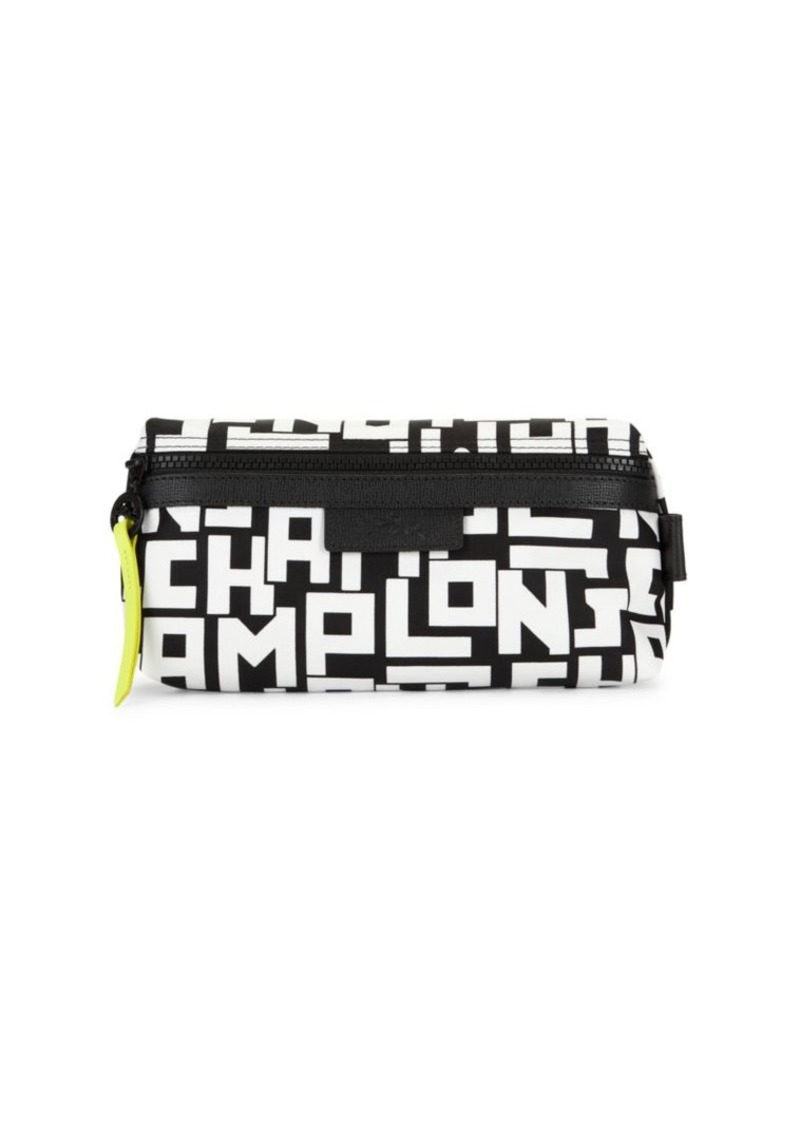 Longchamp Graphic Nylon Cosmetic Case