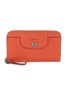 Longchamp Heritage Leather Continental Wallet