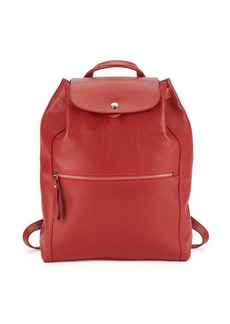 Longchamp Le Foulonne Drawstring Leather Backpack