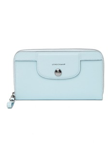 Longchamp Le Pliage Leather Zip Around Wallet
