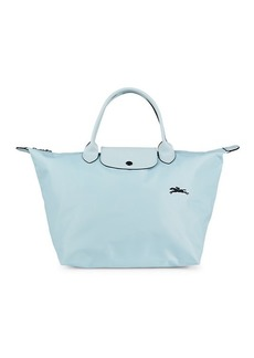 Longchamp Le Pliage Club Leather-Trim Top Handle Bag