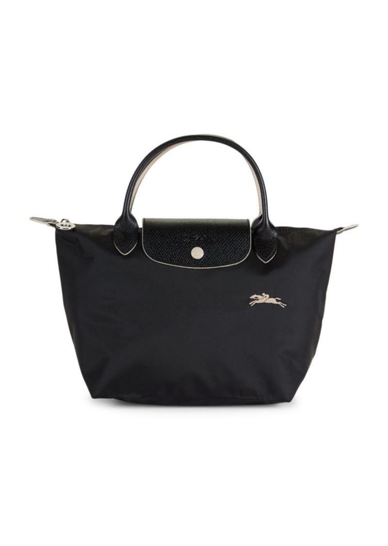 Longchamp Le Pliage Club Leather-Trim Top Handle Bag