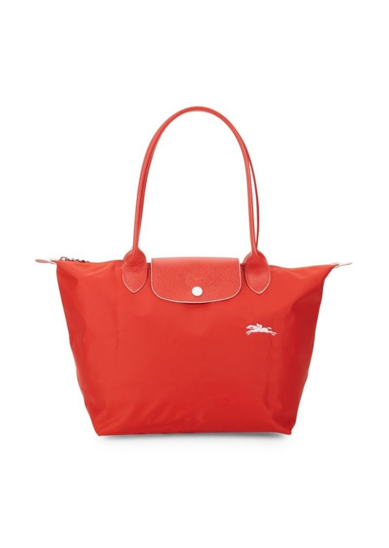 Longchamp Le Pliage Club Leather-Trim Tote
