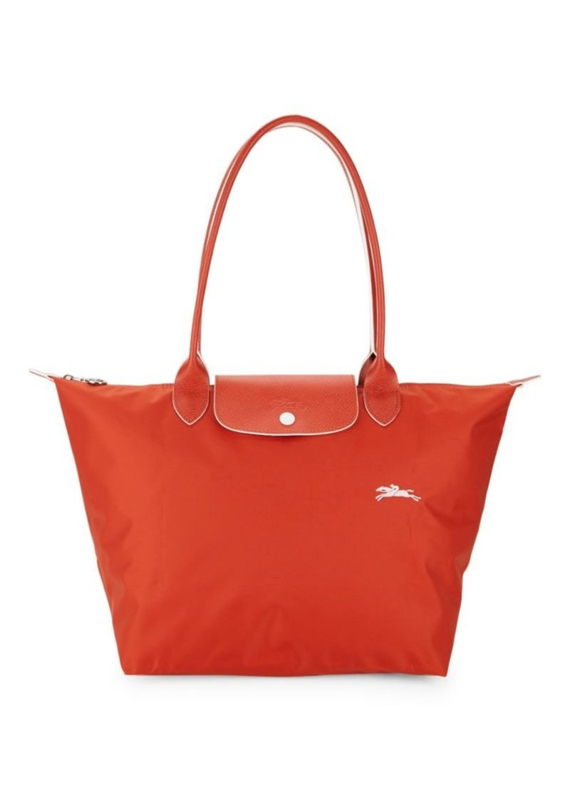 Longchamp Le Pliage Club Leather-Trimmed Tote