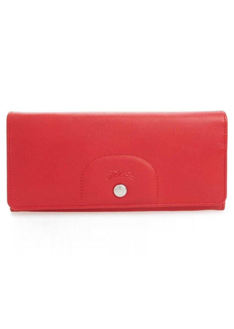Longchamp 'Le Pliage Cuir' Continental Wallet