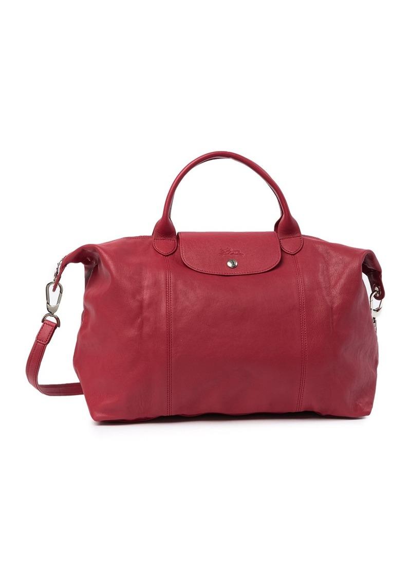 Longchamp Le Pliage Cuir Leather Handbag