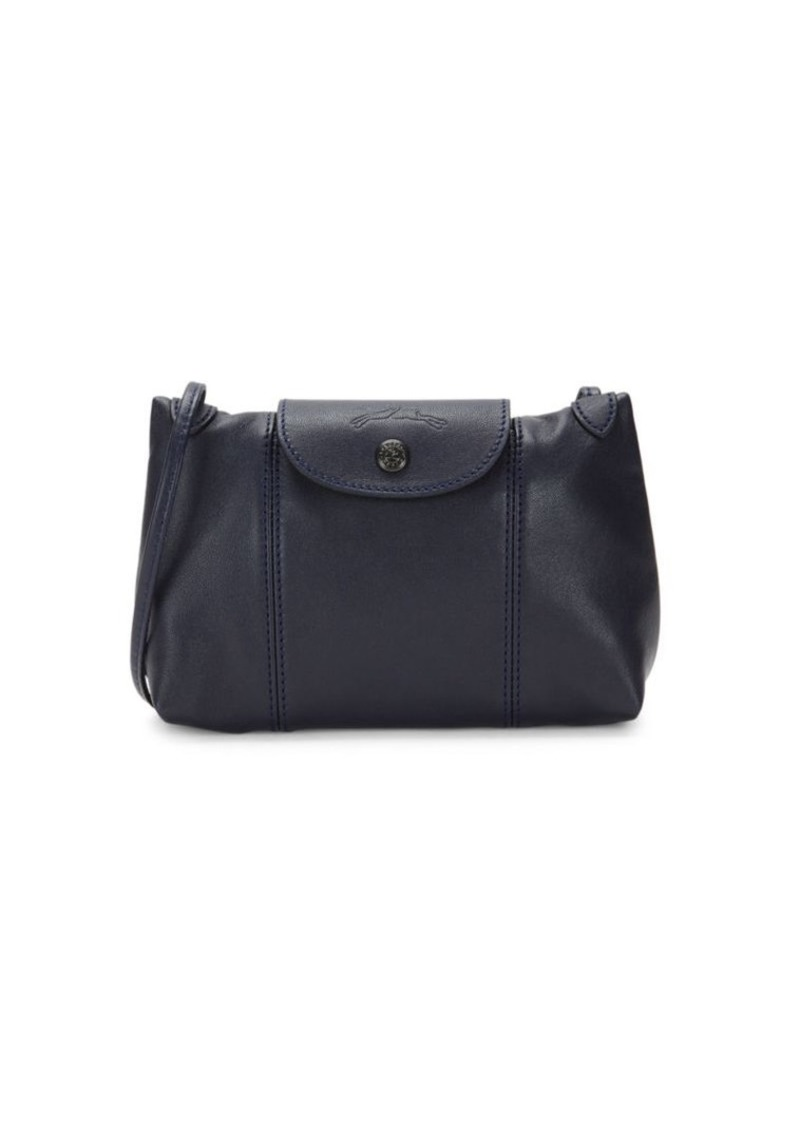 Longchamp Le Pliage Cuir Mini Leather Crossbody Bag