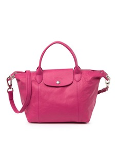 Longchamp Le Pliage Heritage Leather Satchel