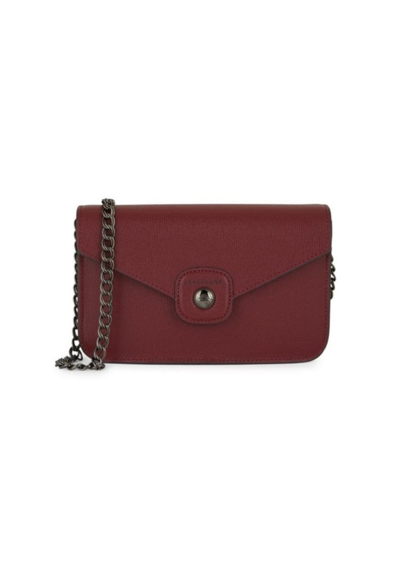 Longchamp Le Pliage Leather Chain Wallet