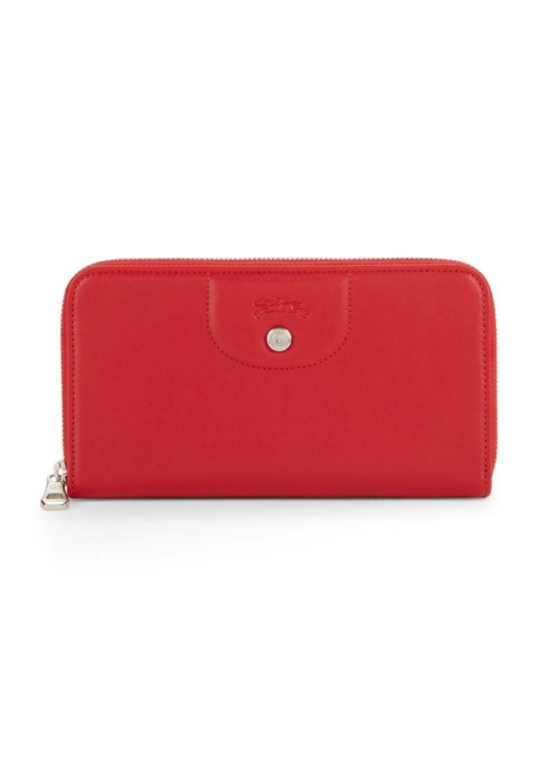 Longchamp Le Pliage Leather Continental Wallet