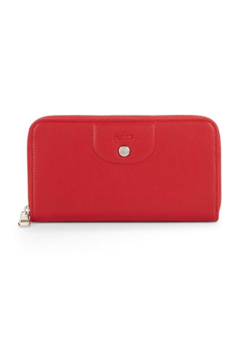 Longchamp Le Pliage Leather Continental Wallet