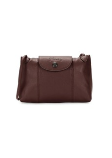 Longchamp Le Pliage Leather Crossbody Bag