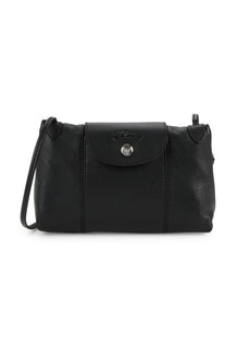 Longchamp Le Pliage Leather Crossbody Bag
