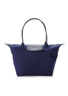 Longchamp Le Pliage Leather-Trim Tote