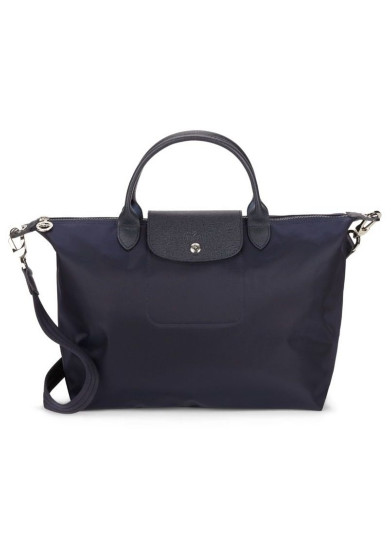 Longchamp Le Pliage Metallic Logo Tote