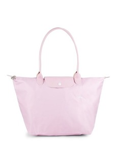 Longchamp Le Pliage Nylon Leather Tote
