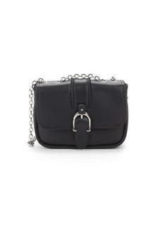 Longchamp Leather Buckled Crossbody Bag
