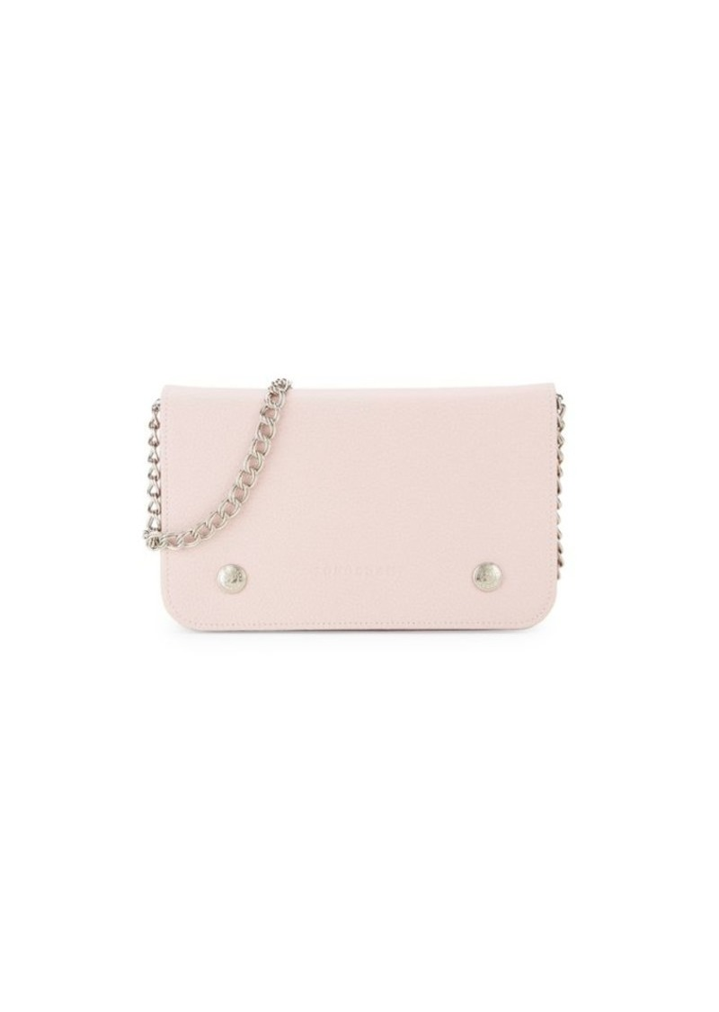 Longchamp Leather Chain Wallet