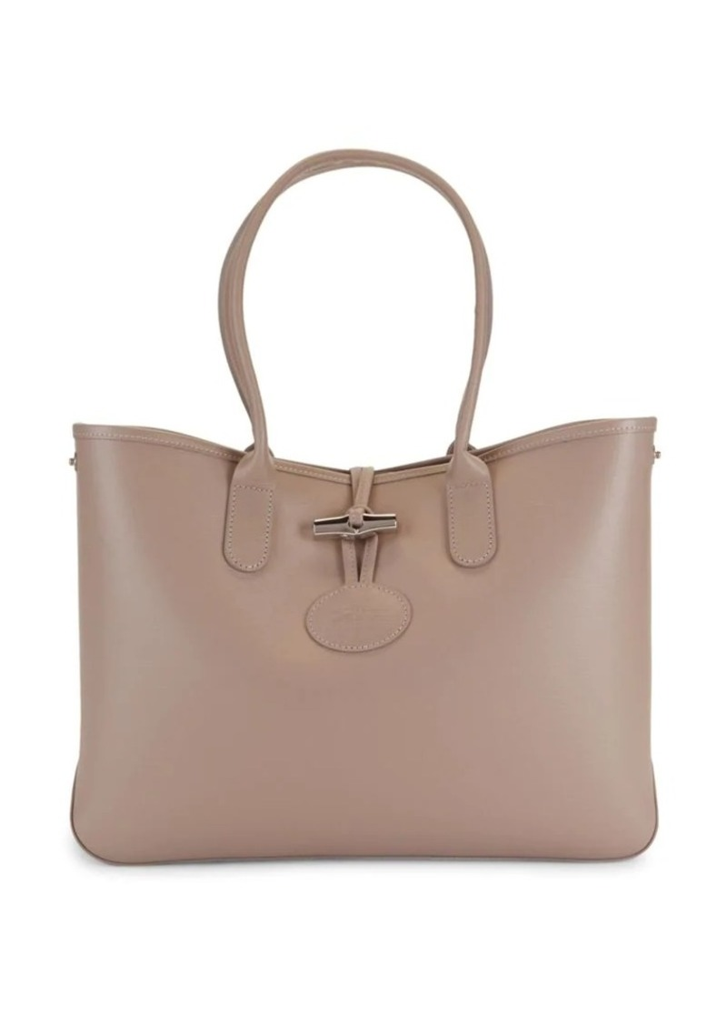 Longchamp Leather Toggle Tote