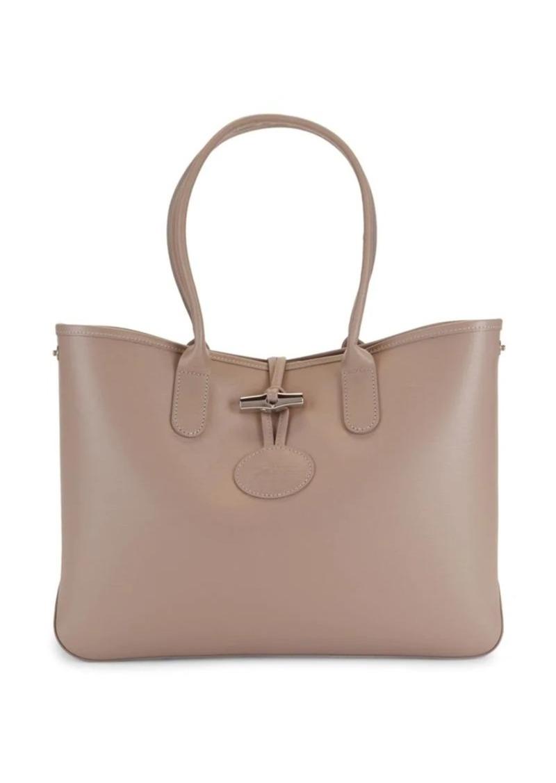 Longchamp Leather Toggle Tote