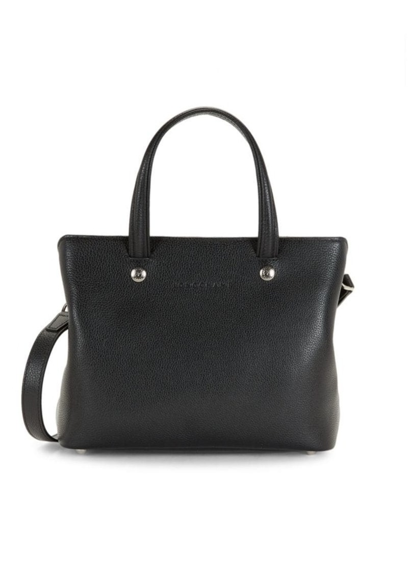 Longchamp Leather Top Handle Bag