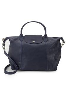 Longchamp Leather Top Handle Shoulder Bag