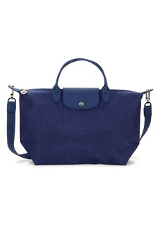 Longchamp Leather Trim Convertible Tote