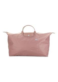 Longchamp Leather-Trim Nylon Satchel