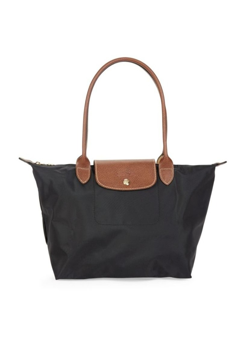 Longchamp Leather-Trim Nylon Satchel