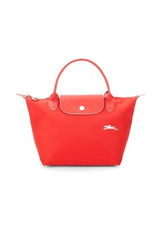 Longchamp Leather-Trim Tote