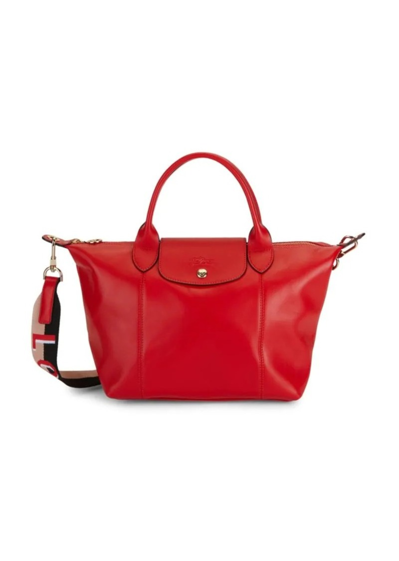 Longchamp Logo Leather Satchel