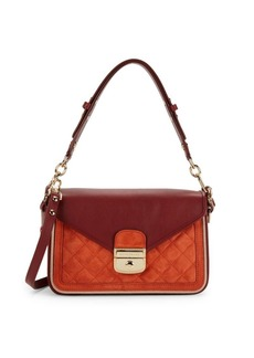 Longchamp Logo Quilted Leather Crossbody Bag
