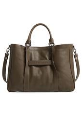 Longchamp '3D - Medium' Leather Tote