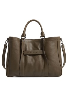 Longchamp '3D - Medium' Leather Tote