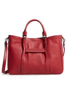Longchamp '3D - Small' Leather Tote