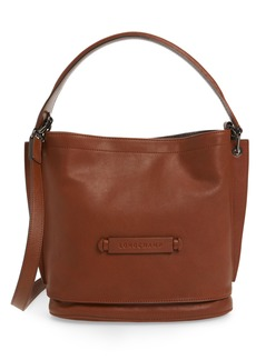 Longchamp 3D Leather Bucket Bag