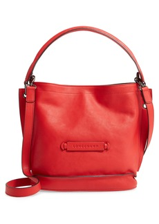 Longchamp 3D Leather Crossbody Hobo