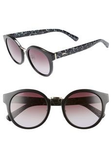 Longchamp 51mm Round Sunglasses